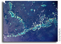 Orbital View Of The Great Barrier Reef