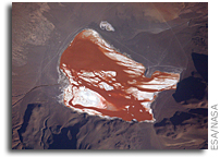 Laguna Colorada, Chile Seen From Space