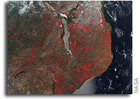 East African Agricultural Fires Overwhelm Landscape