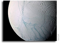 Enceladus Imagery Suggests Subsurface Ocean Of Liquid Water