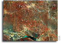 Earth from Space: Botswana's Central District