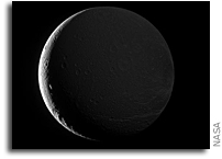 Dione Lit by Sunshine and Saturnshine