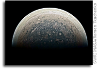 Jupiter's South Pole As Viewed By Juno