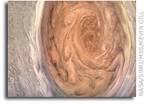 Juno's Amazing View Of Jupiter's Great Red Spot