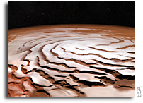 New View Of Mars' North Pole