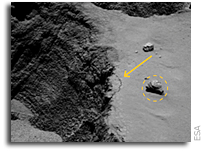 Watching Landslides On A Comet