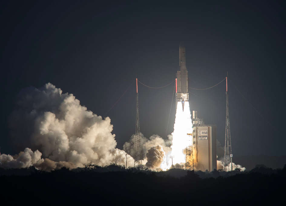 Arianespace Orbits Two Digital HDTV Satellites, SKY Brasil-1 and Telkom 3S, on Ariane 5's 77th Successful Launch in a Row