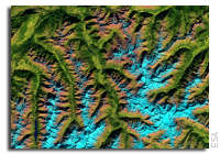 Earth from Space: Ötztal Alps, Austria