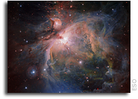 Spectacular View Of The Orion Nebula