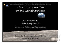 NASA Future In-Space Operations: International Human Lunar Surface Scenario