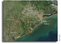 Orbital View Of Houston Flooding From Hurricane Harvey