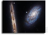 Hubble Image of NGC 4302 and NGC 4298