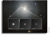 Hubble Observes Source of Gravitational Waves for the First Time
