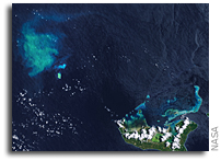 Underwater Volcanic Eruption Near Tongatapu Seen From Space
