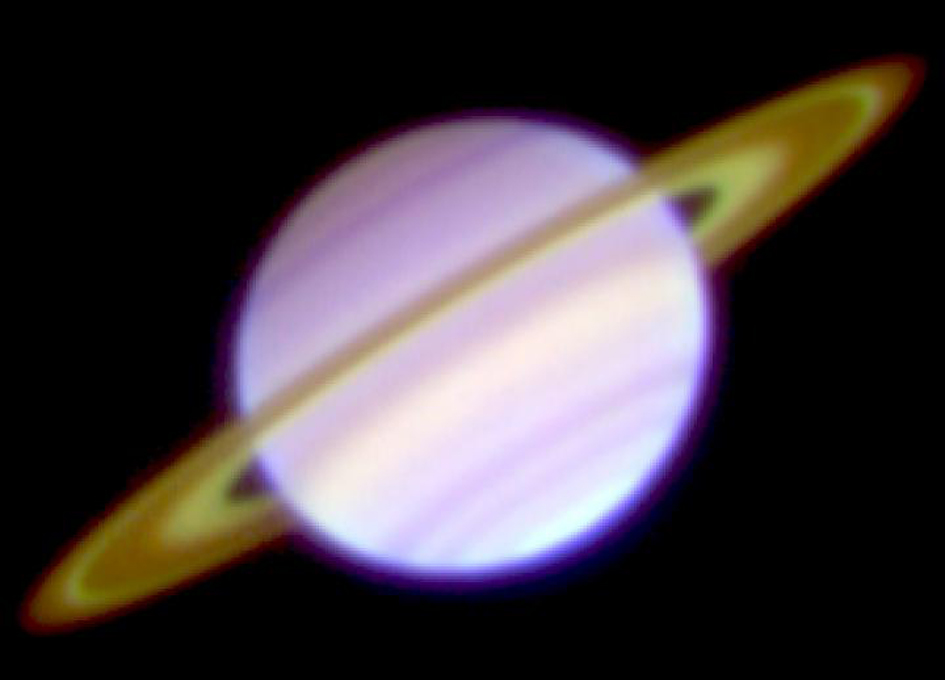 Mid-infrared Of Saturn's Rings Shows Bright Cassini Division