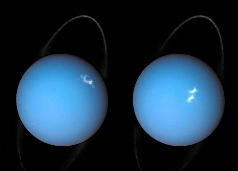 Action of Uranus' Magnetosphere Affects Aurora