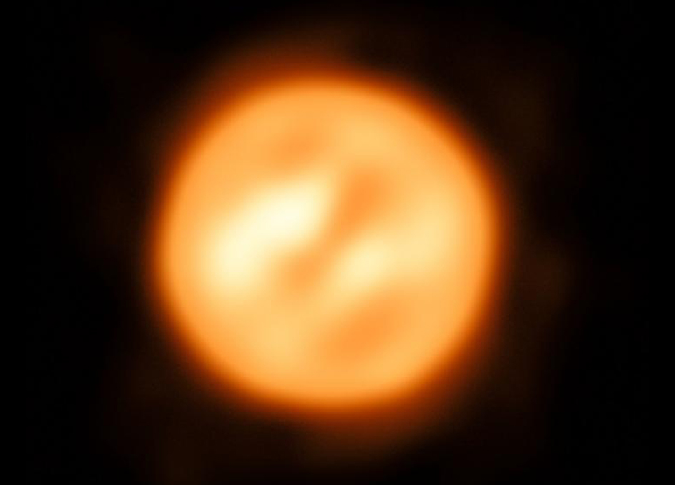 Images released of distant supergiant star