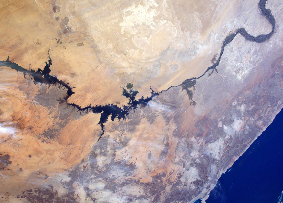 Lake Nasser And The Nile Seen From Orbit