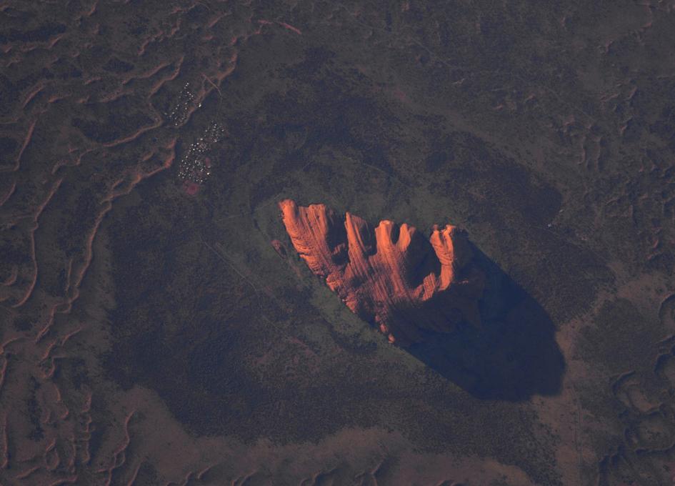 Uluru - Ayer's Rock - Seen From Orbit