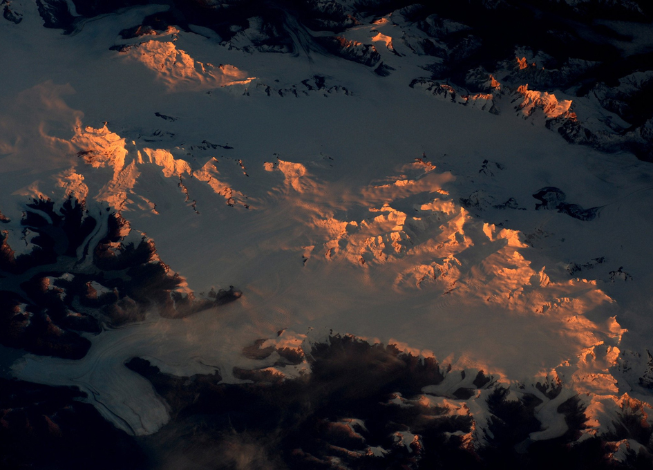 Mountain Sunset from the International Space Station