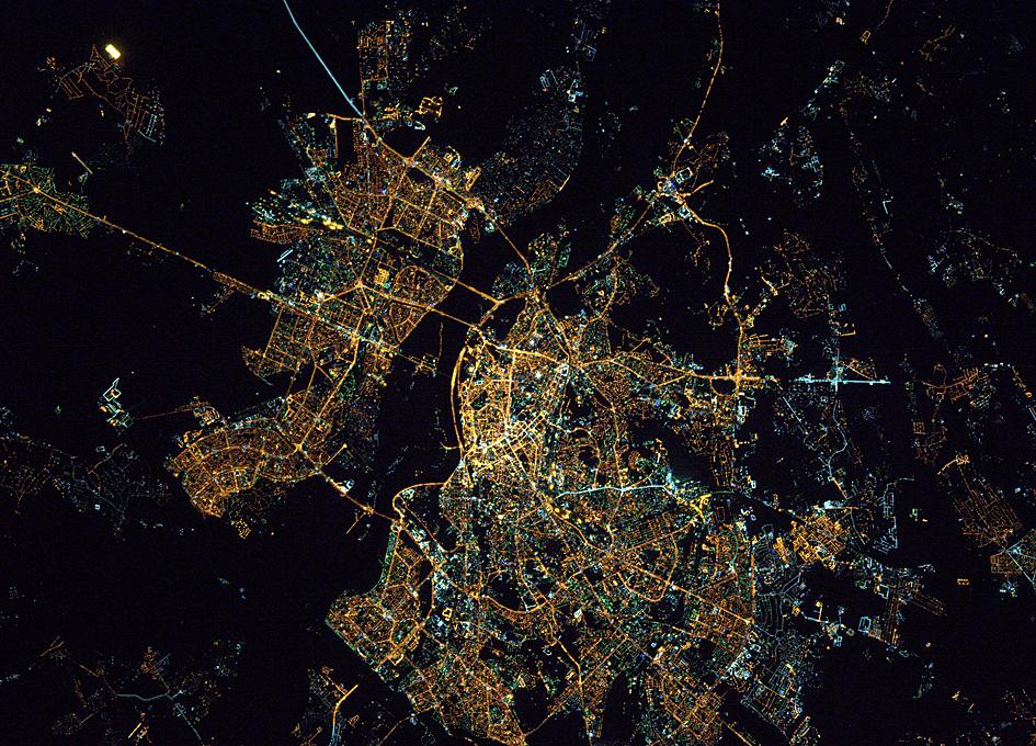 Kiev, Ukraine (Київ, Україна) Seen From Orbit