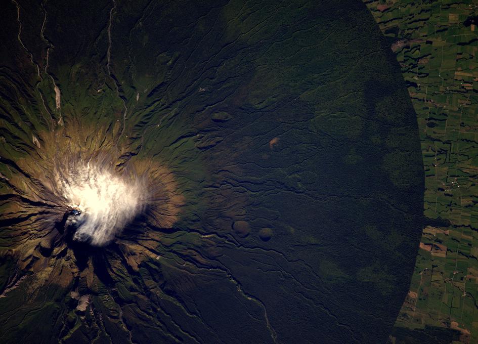 New Zealand's Taranaki Volcano Seen From Orbit