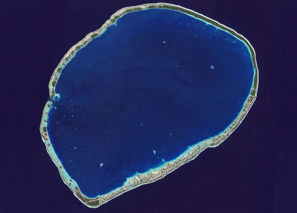 Tikehau Atoll, French Polynesia Seen From Orbit