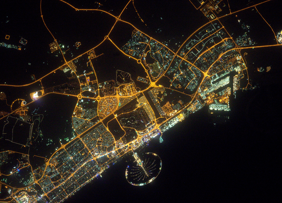 Dubai At Night From Orbit