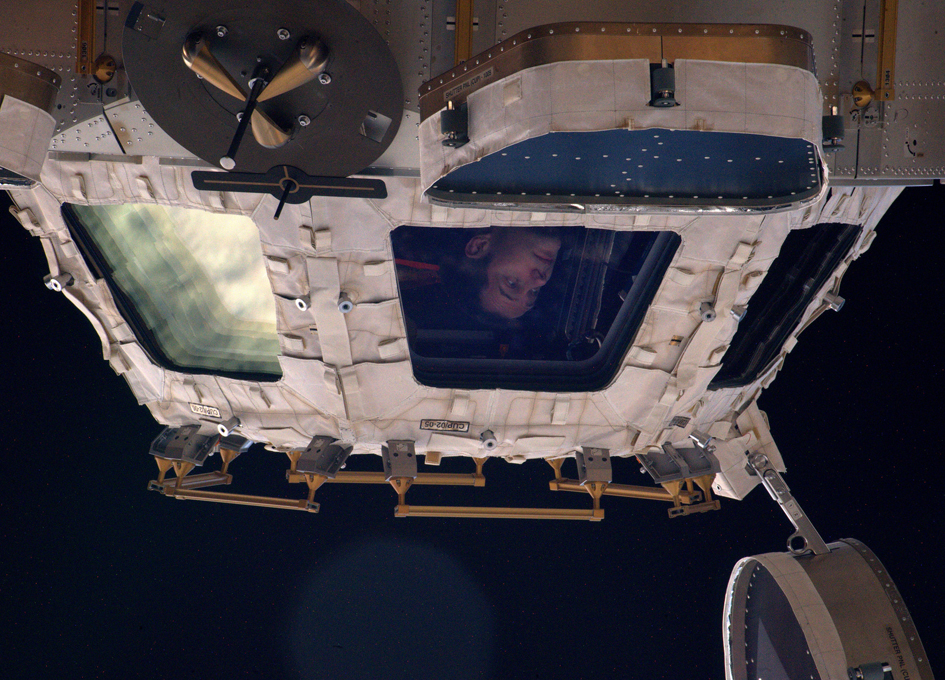 Looking At Earth From An Orbital Cupola
