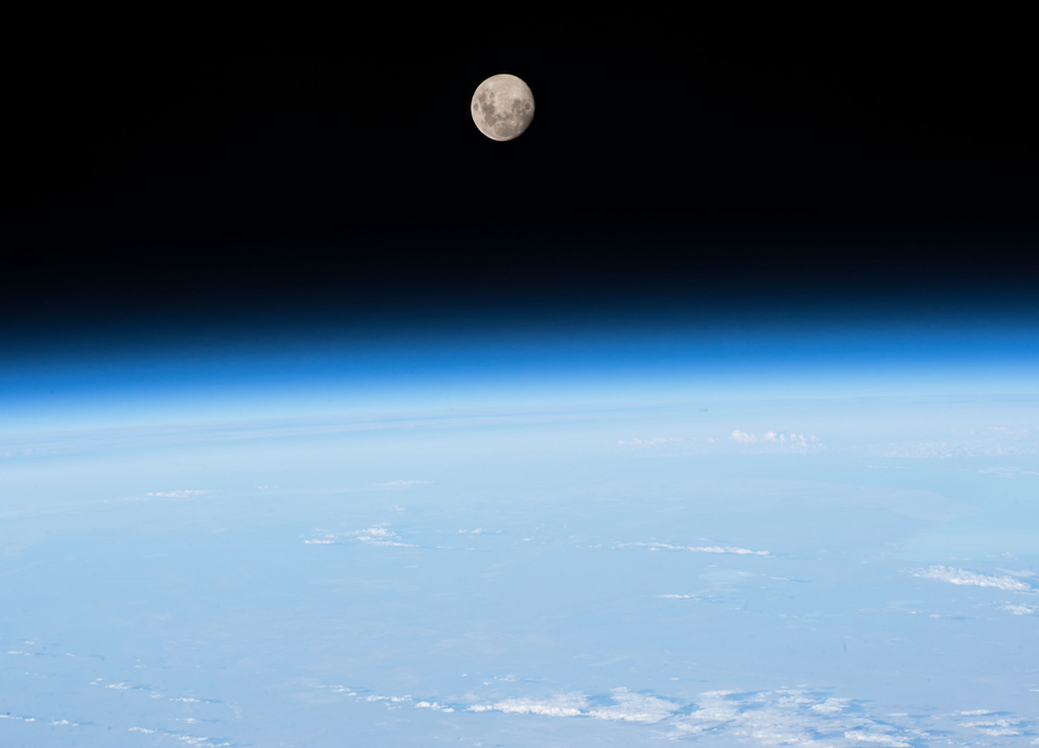 The Moon As Viewed From Earth Orbit - SpaceRef