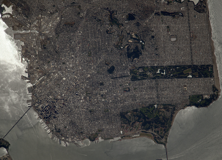 San Francisco As Seen From Orbit