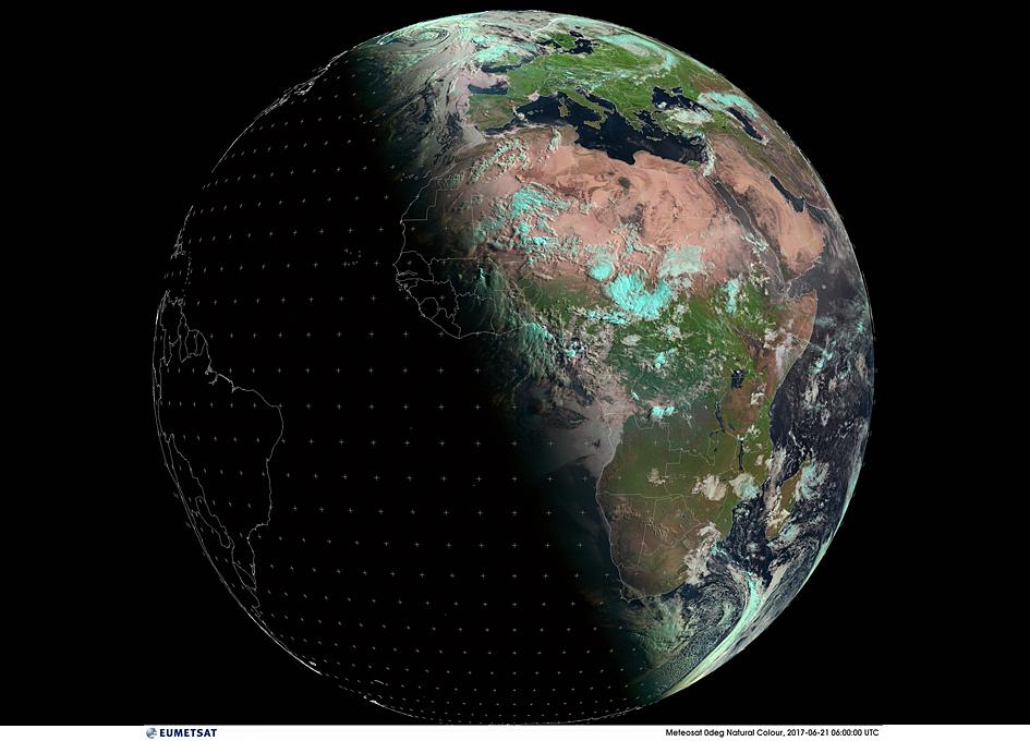 Summer Solstice Viewed From Orbit