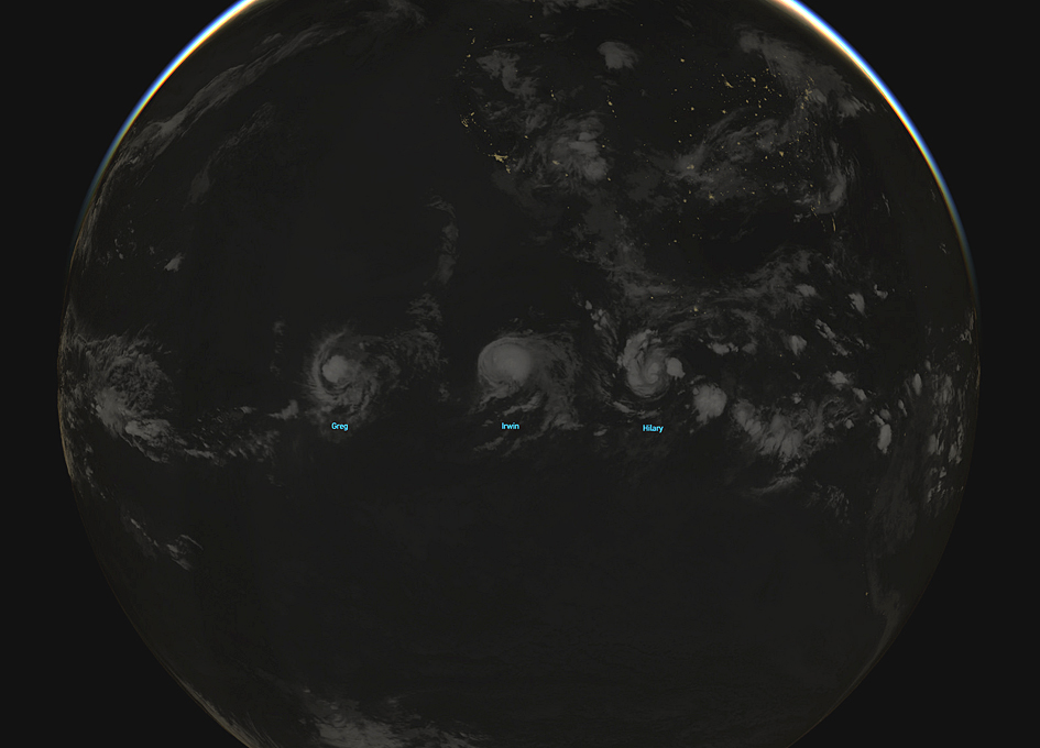 Trifecta Of Pacific Storms Viewed From Orbit