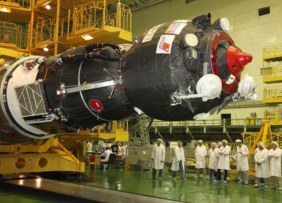 Preparing Soyuz MS-05