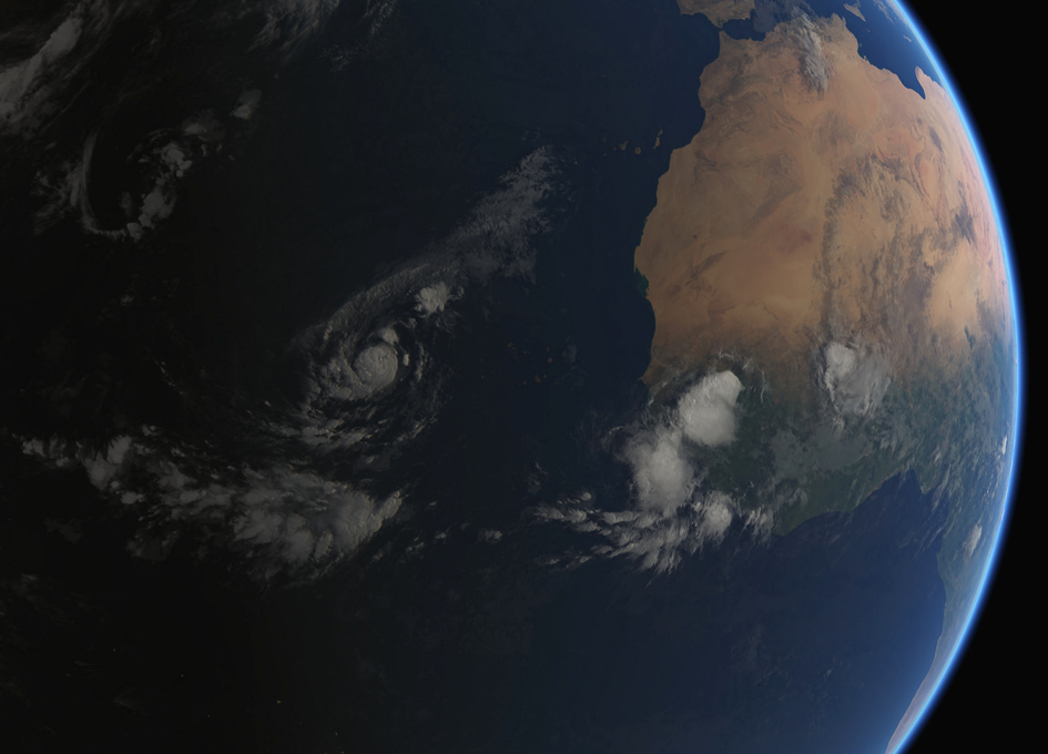 Tropical Storm Irma Seen From Space