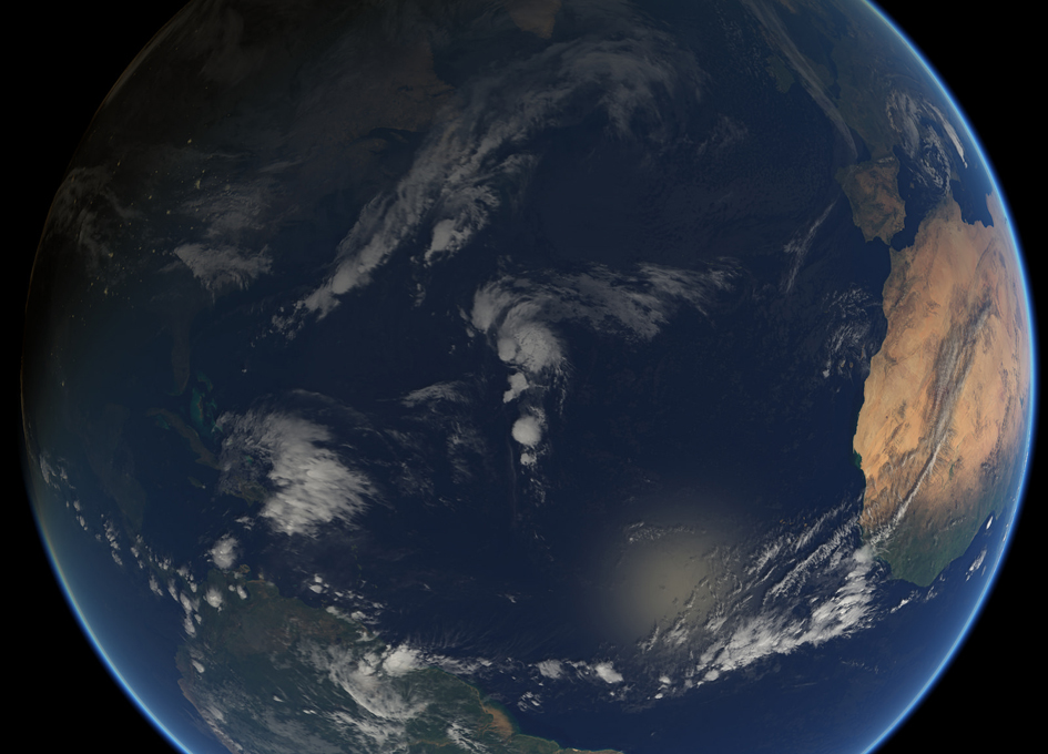 Tropical Storm Rina Seen From Space