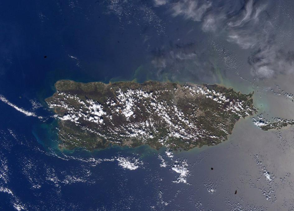 Puerto Rico Seen From Orbit