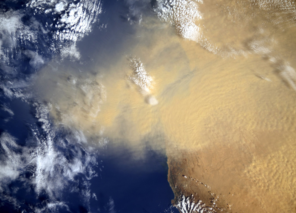 African Dust Storm Viewed From Orbit