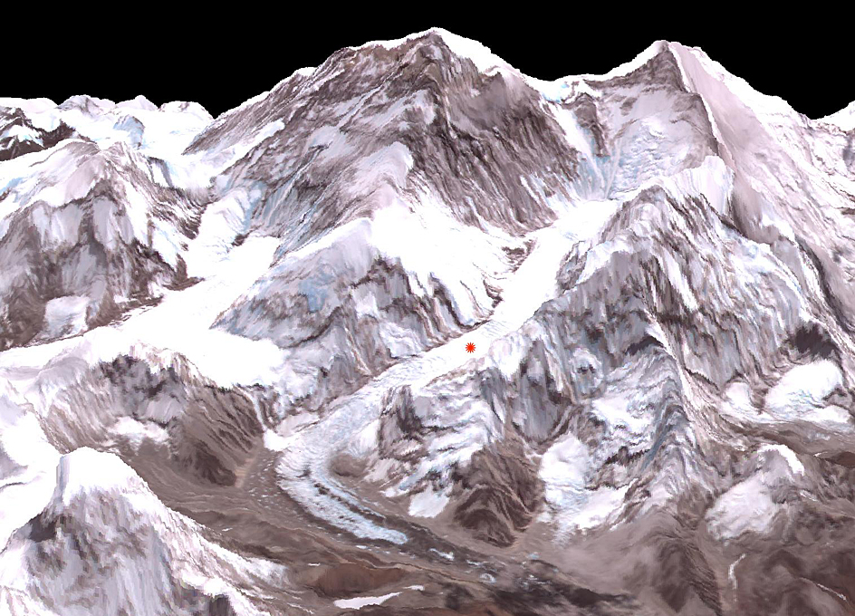 2014 Everest Avalanche Site As Seen From Orbit