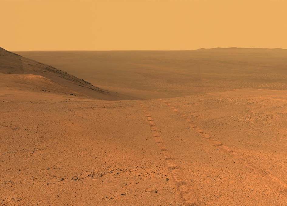 Opportunity Panorama From Above Perseverance Valley