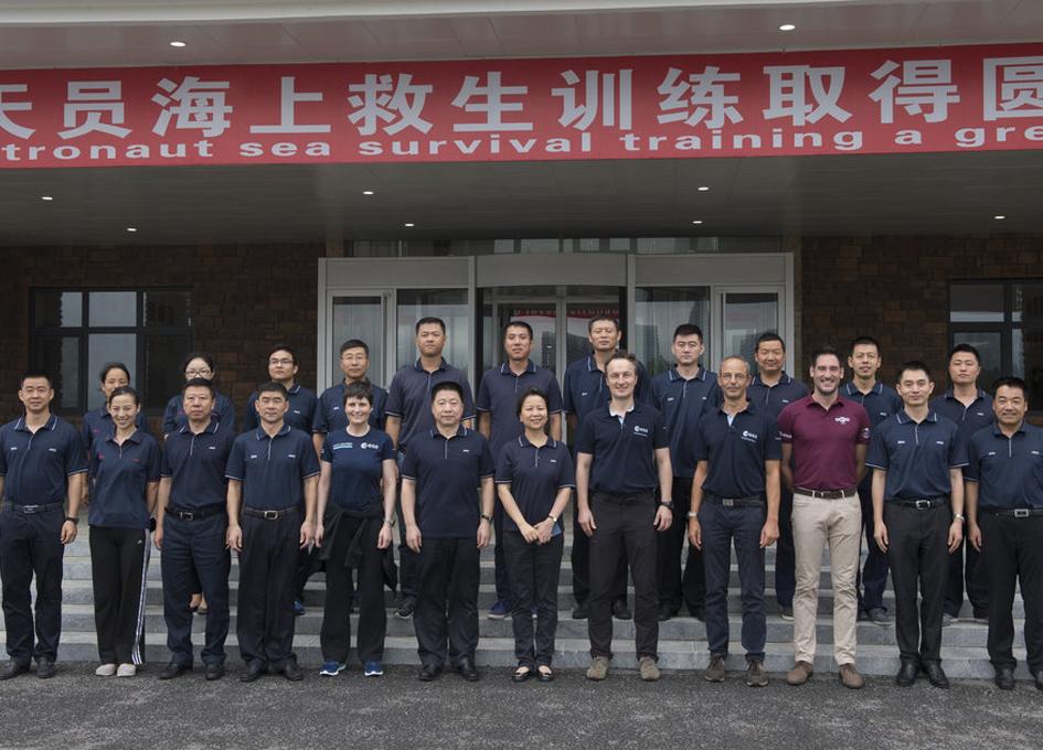 ESA and Chinese Astronauts Undergo Sea Survival Training