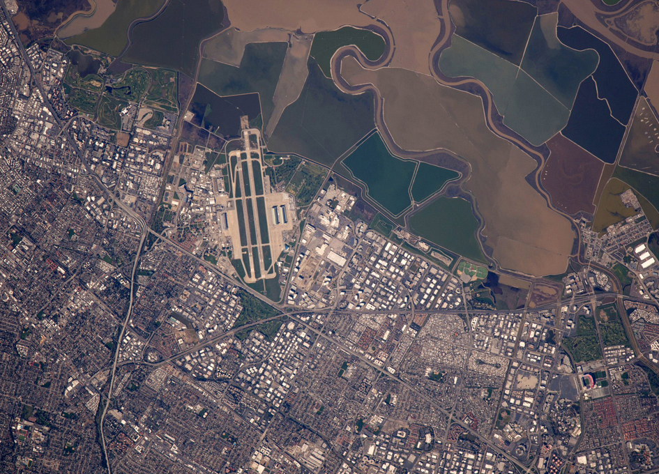 NASA Ames Research Center Viewed From Orbit