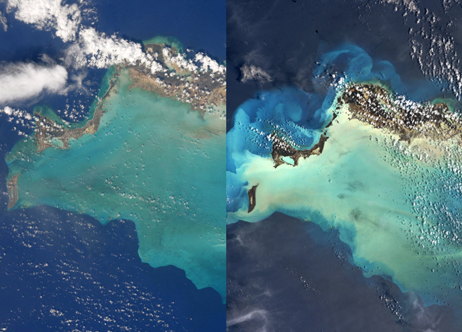 Orbital View Of Turks And Caicos Before And After Irma