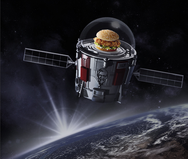 KFC to send chicken sandwich to edge of space
