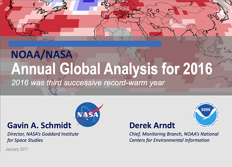Data Shows That 2016 Was The Warmest Year on Record Globally