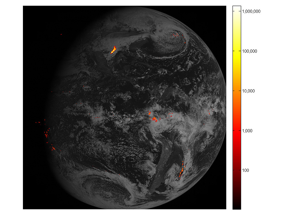 NASA weather satellite sends striking lightning images