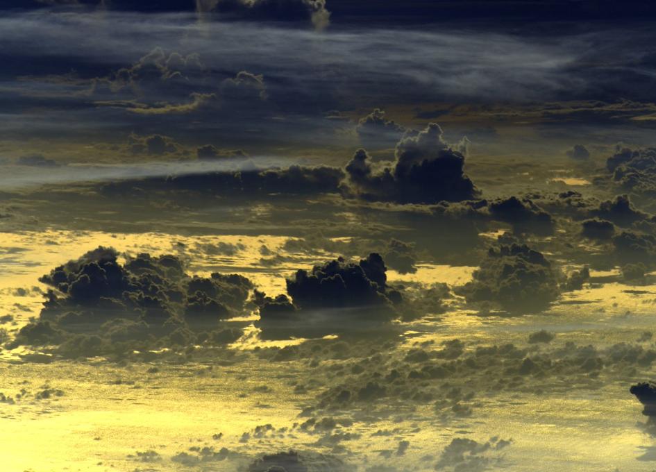 Stunning Golden Orbital Sunset