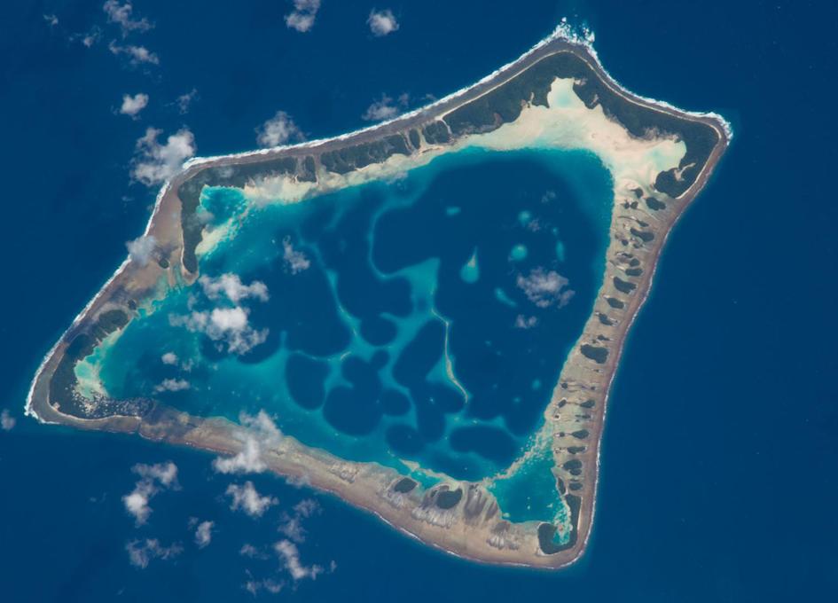 Atafu Atoll Seen From Orbit