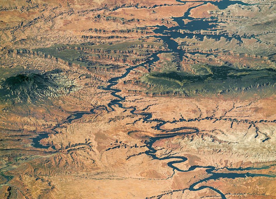Lake Powell and Grand Staircase-Escalante Viewed From Orbit