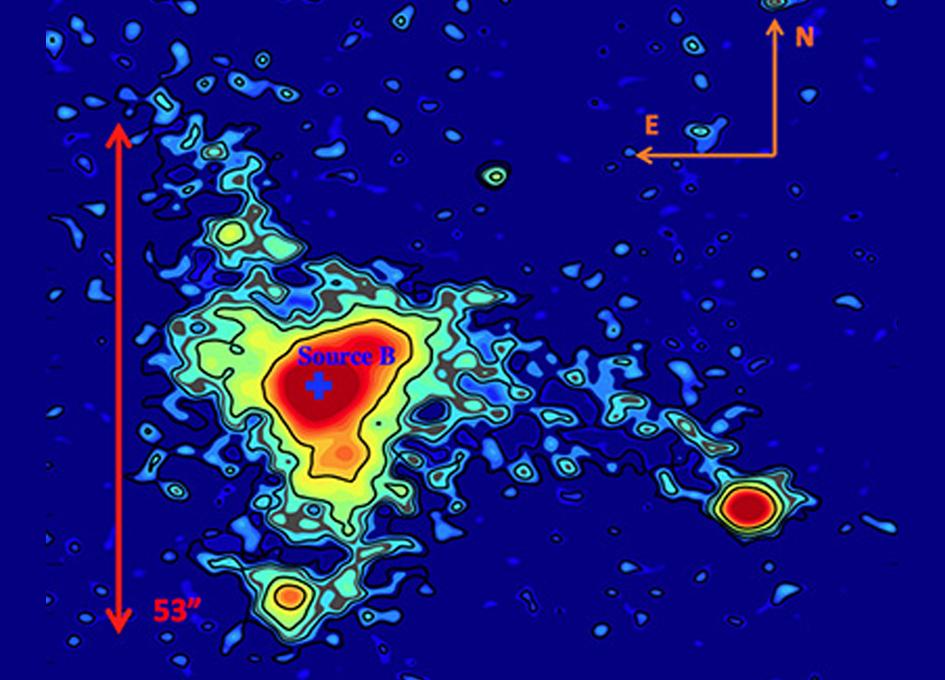 Vast Luminous Nebula Poses a Cosmic Mystery